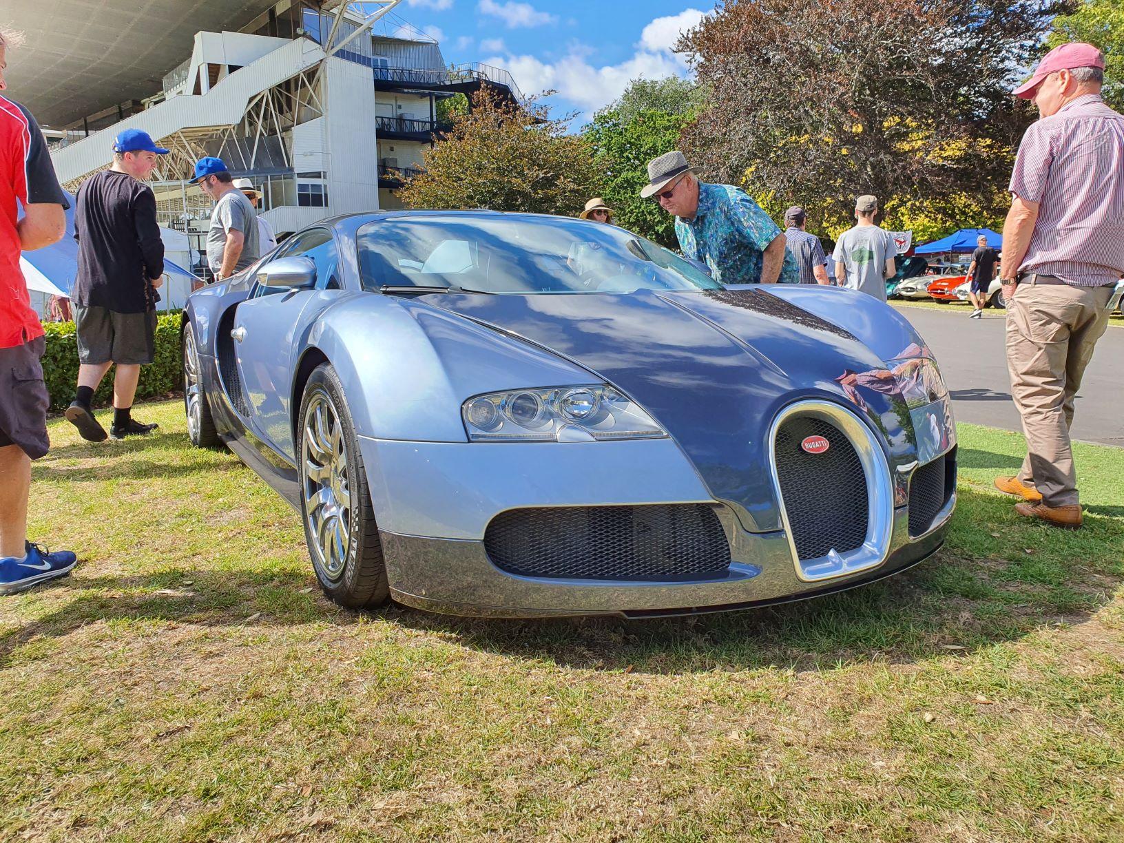 Bugatti Veyron in silver and blue